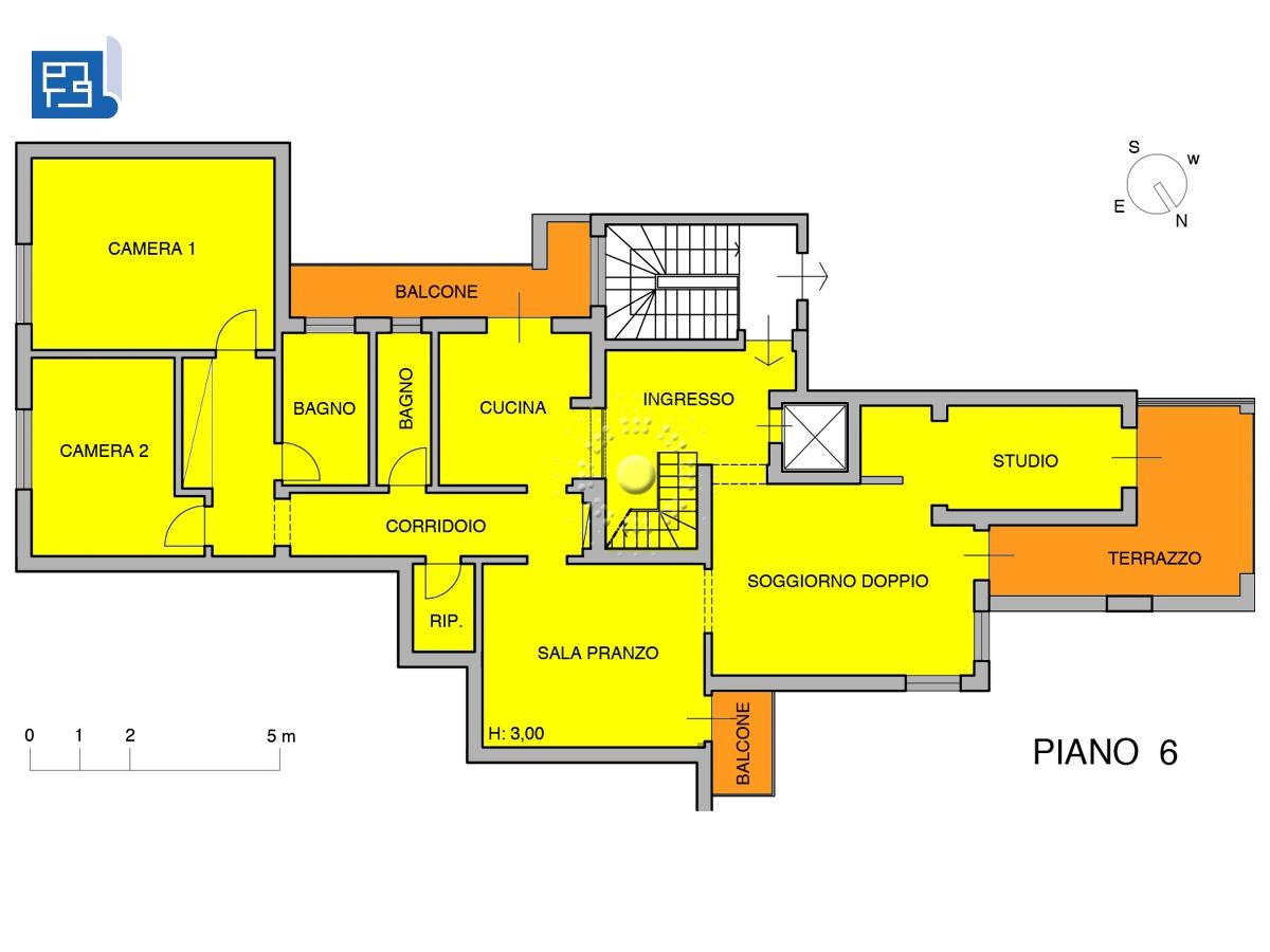planimetria piano 6